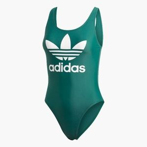 Adidas Trefoil Swimsuit ED1055 Green Womens XS